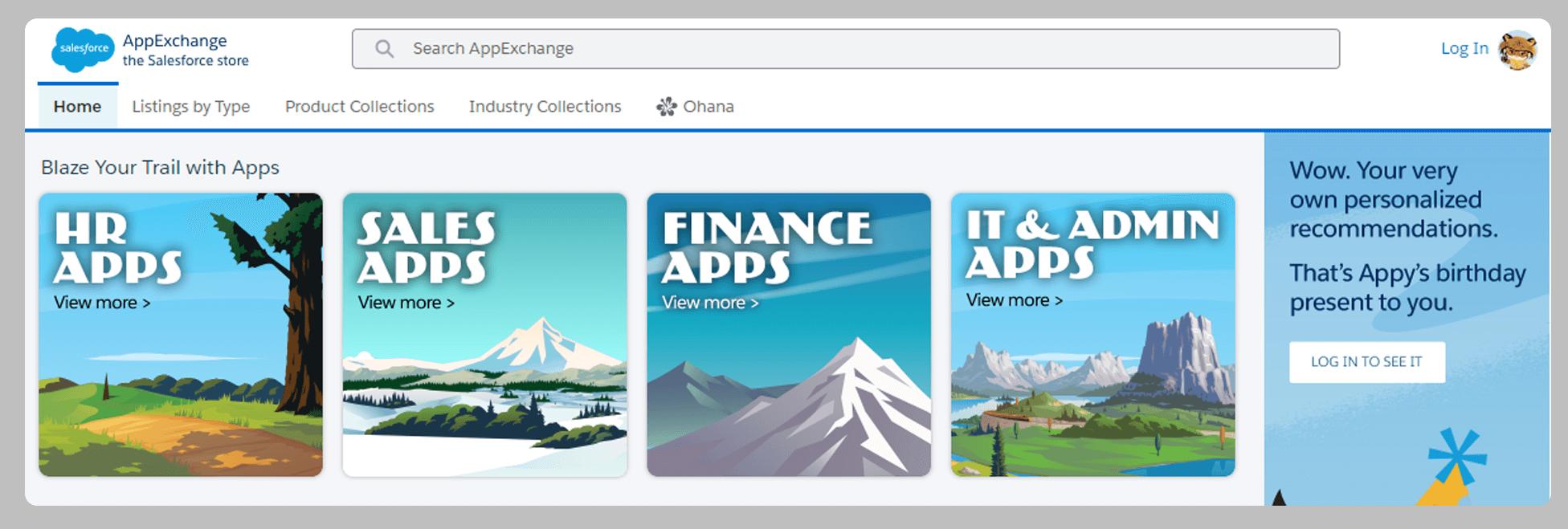 Salesforce App Categories on AppExchange