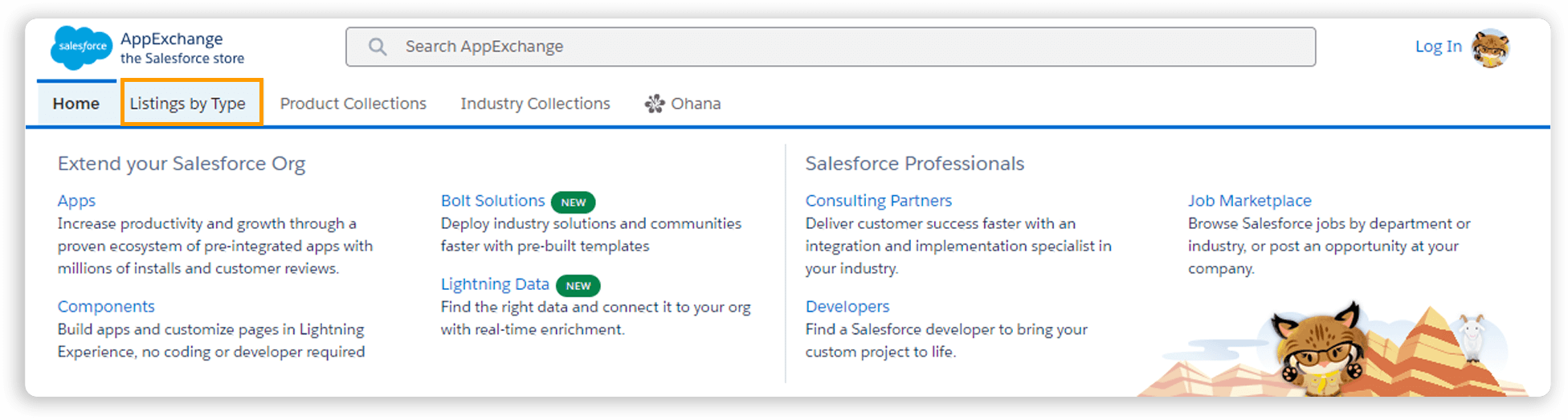 Salesforce App Listings by Type on AppExchange