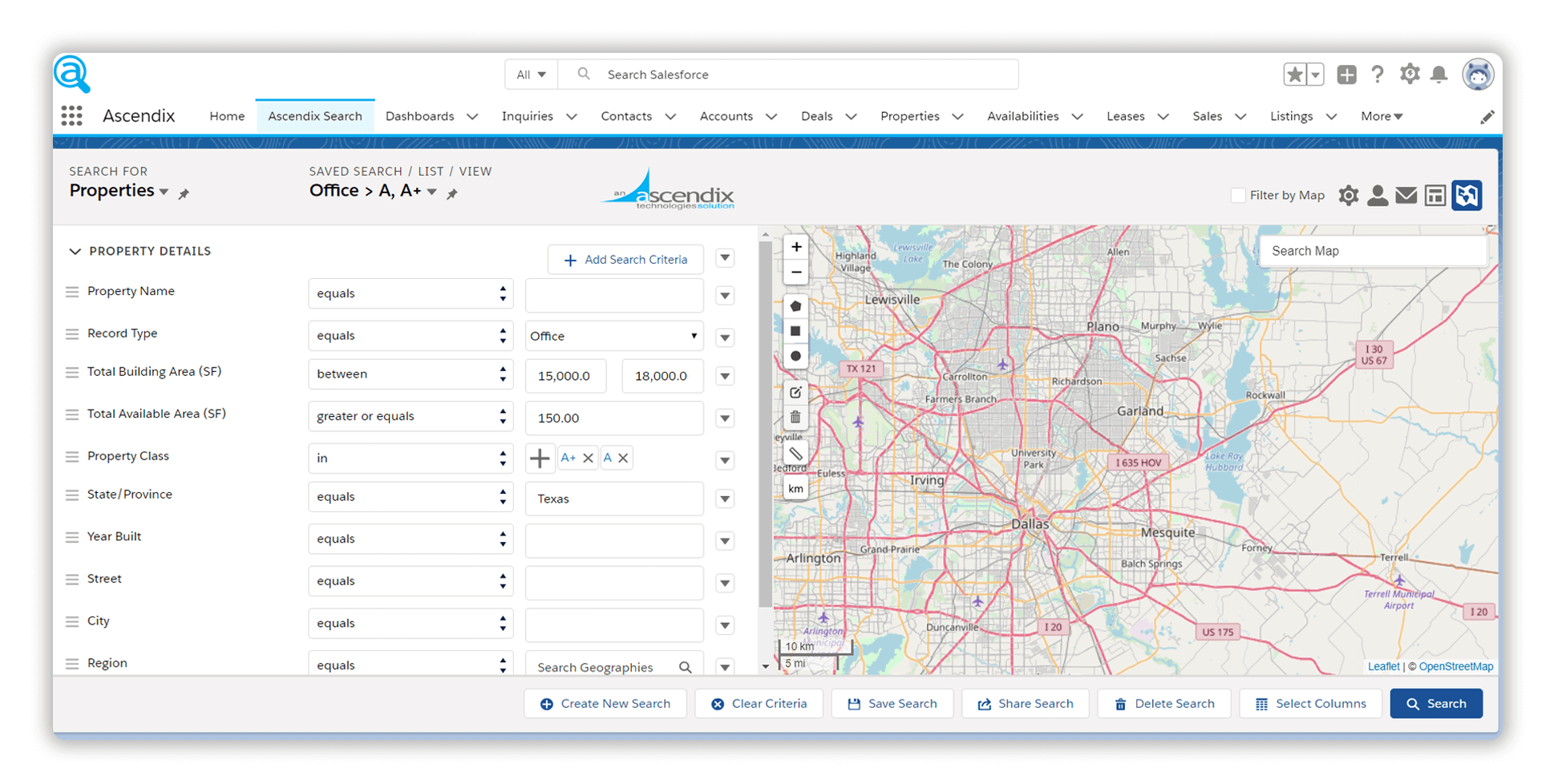 ascendix-search-commercial-real-estate-properties-search