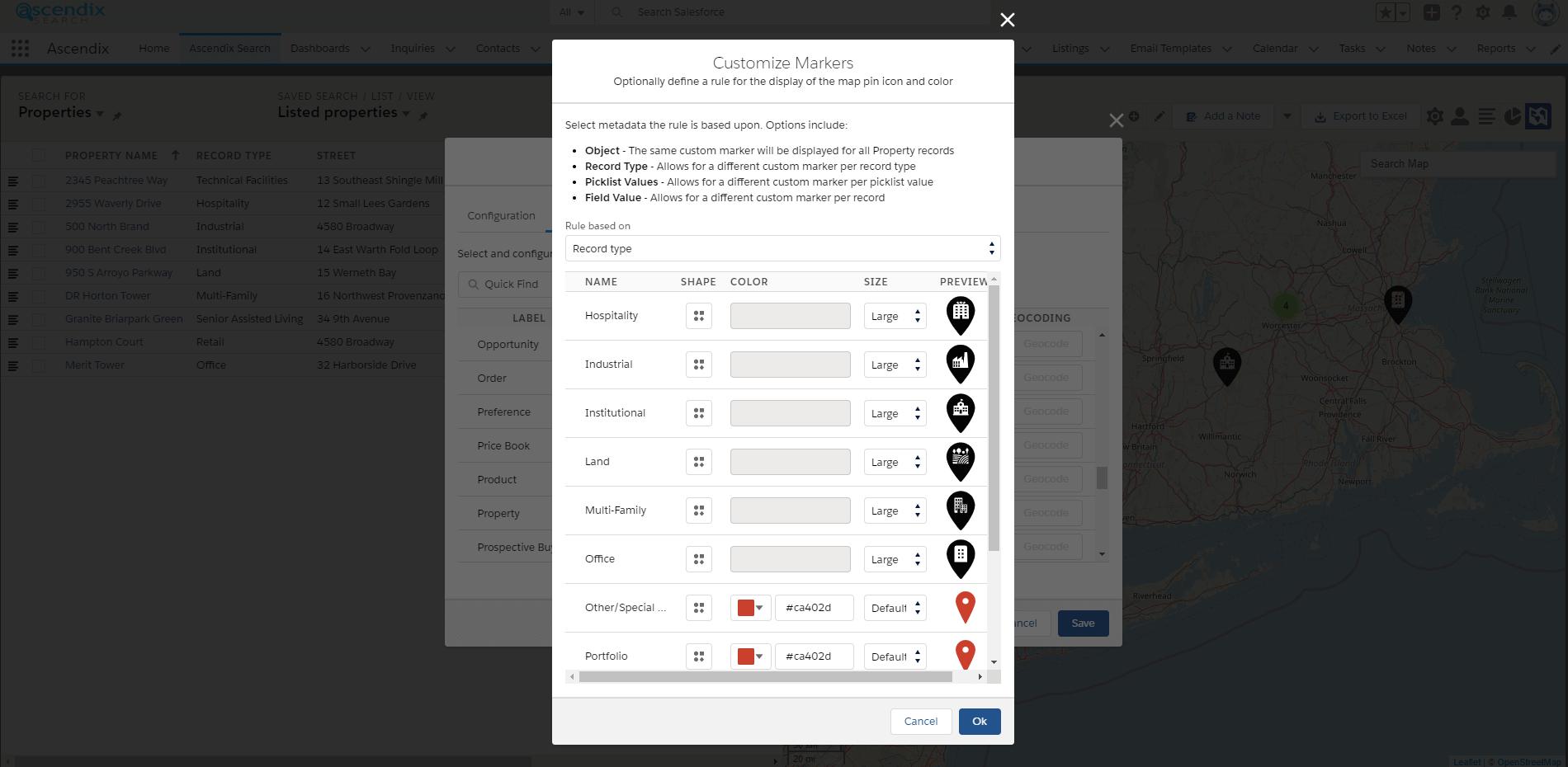 Ascendix-Search-Customize-Markers
