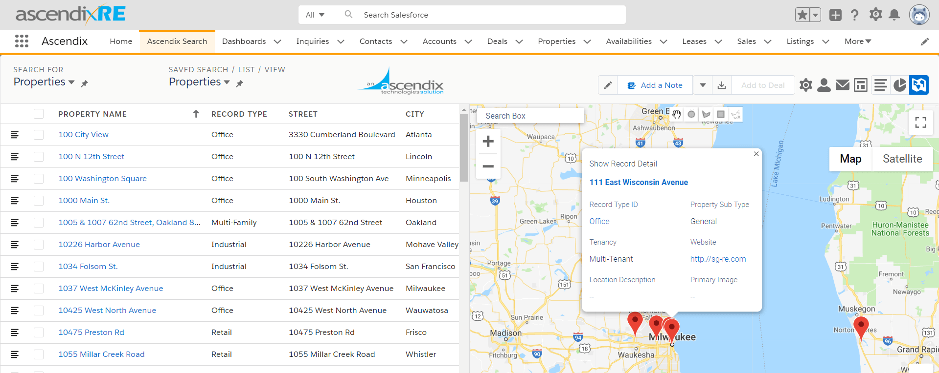 Ascendix-Search-Customized-Record-Details-on-a-map