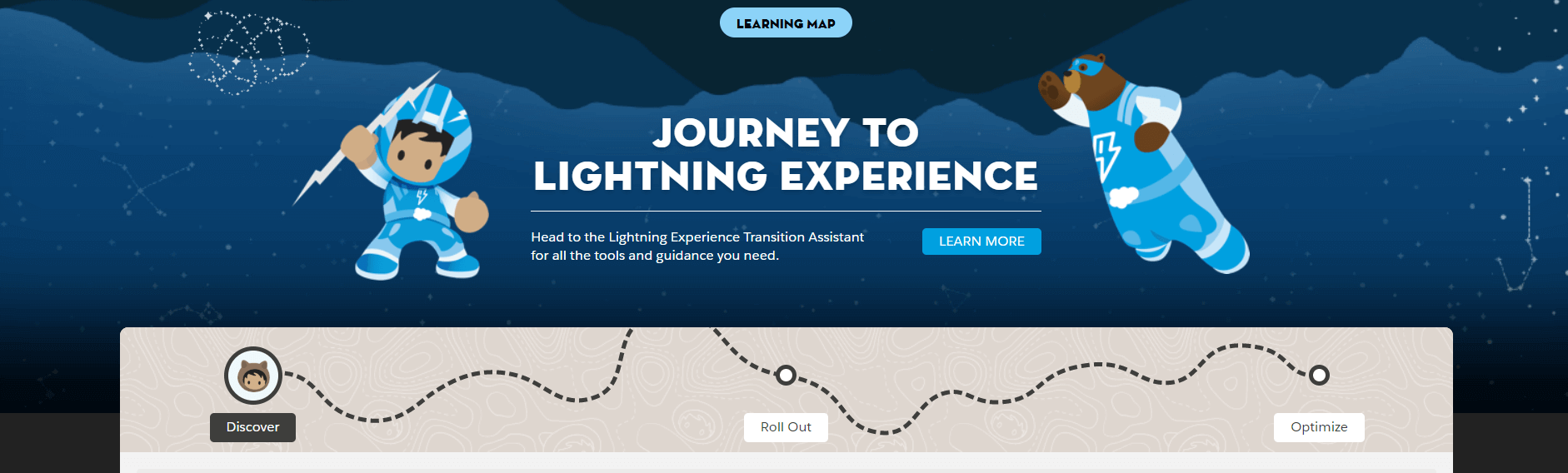 Salesforce Lighting Learning Map