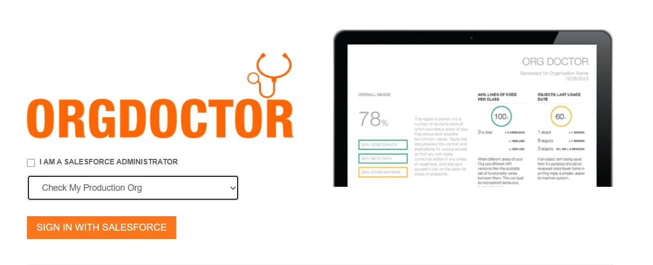 Salesforce-Org-Doctor-System-Health-Check-App