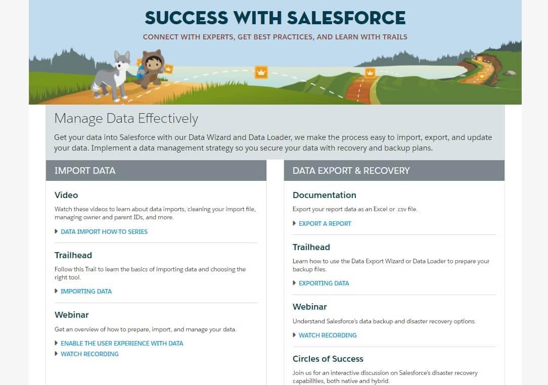 Salesforce-Support-Resources-on-Effective-Data-Management