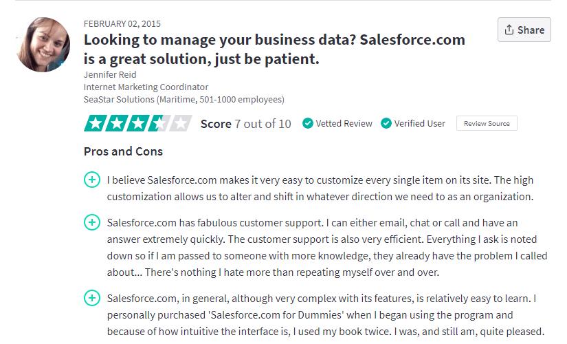 Salesforce-customer-service-reviews