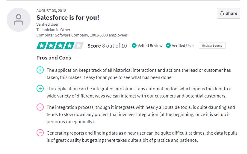Salesforce-integration-reviews
