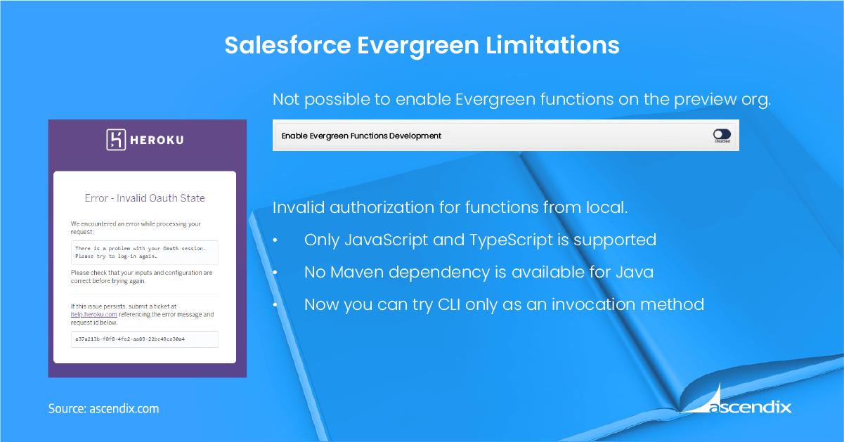 Salesforce Evergreen Limitations