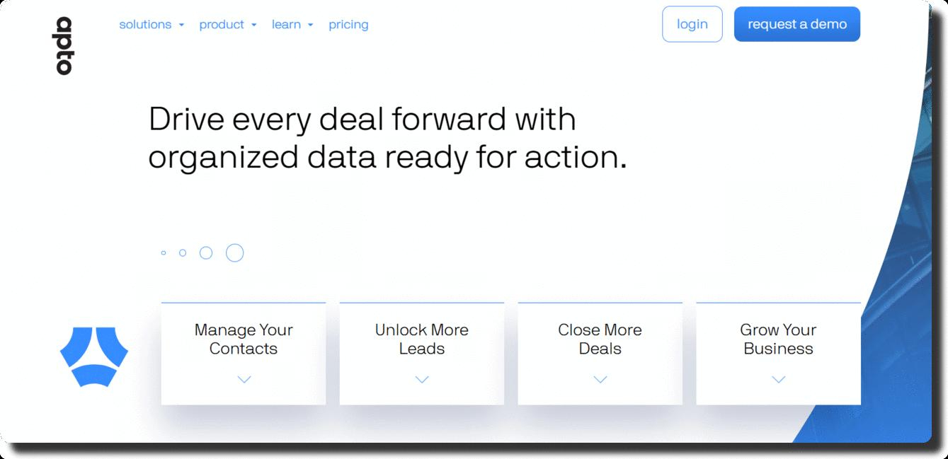 Apto Home Page
