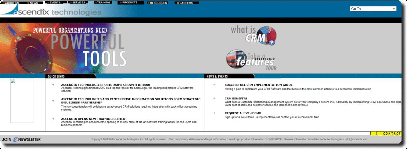 Ascendix Technologies website CRM services