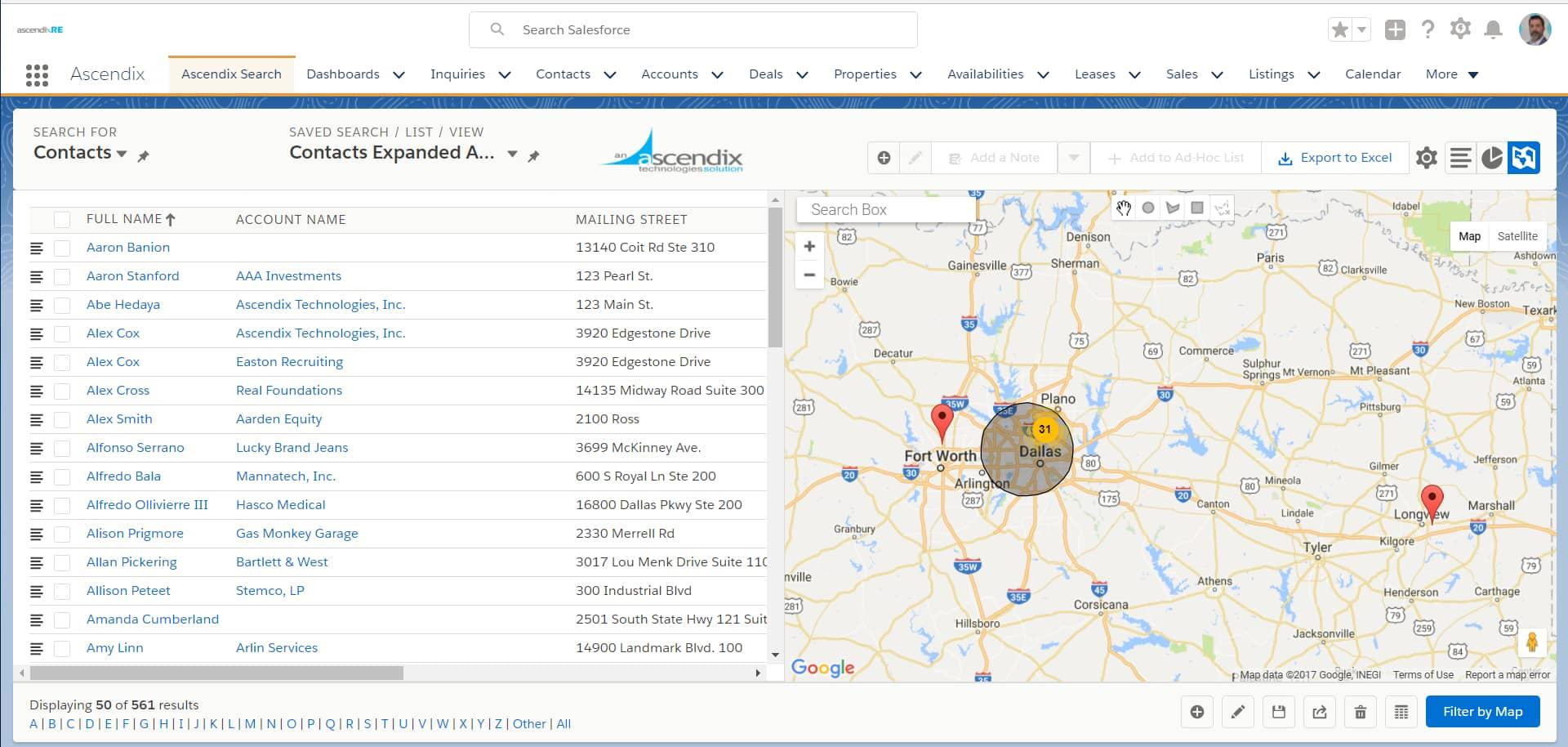 AscendixRE-Map-Search-Feature