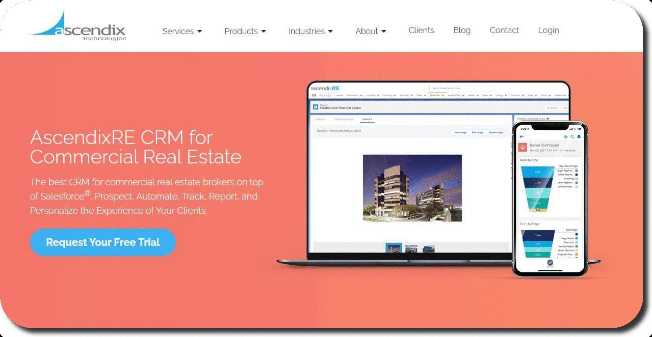 AscendixRE Salesforce commercial real estate CRM
