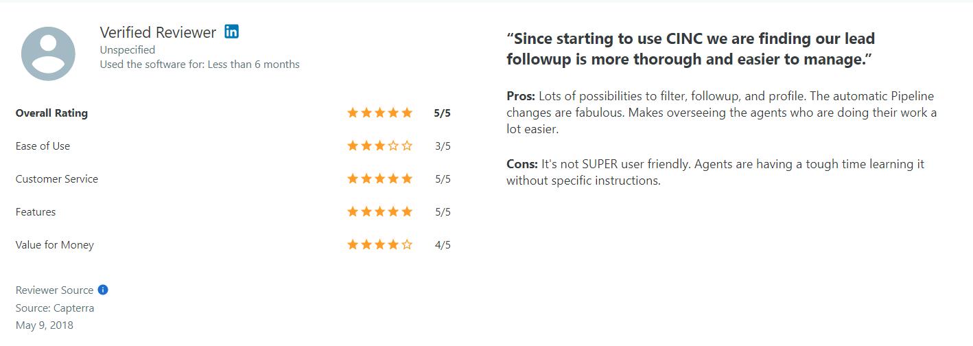 CINC CRM Pros Reviews