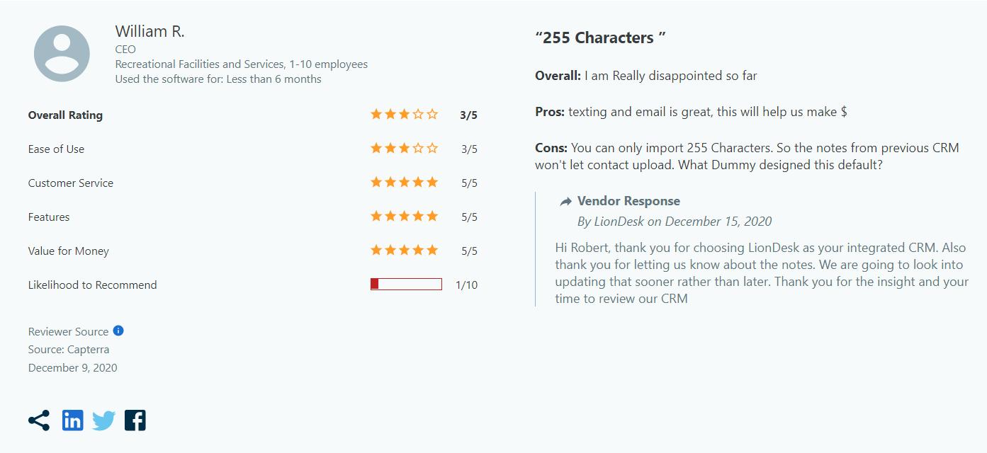 LionDesk-crm-cons-reviews