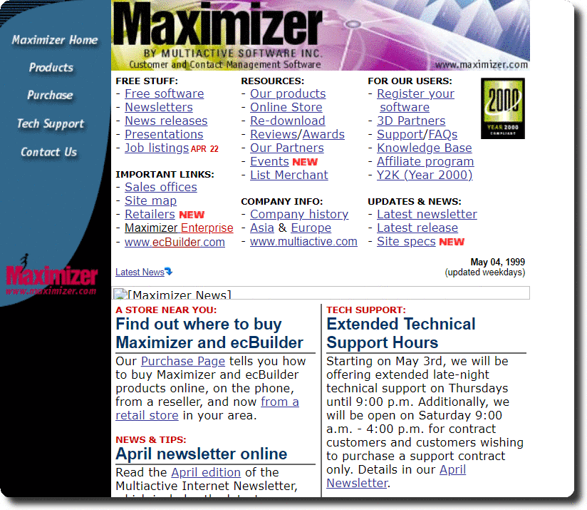Maximizer by Multiactive Software Home Page