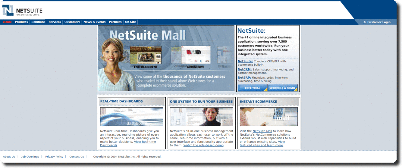 Netsuite Home Page