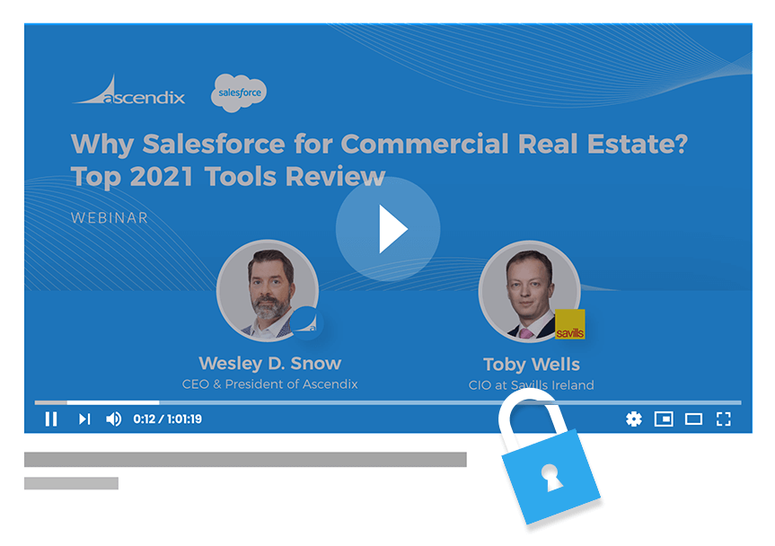 Webinar recording why Salesforce for commercial real estate Wes Snow Toby Wells