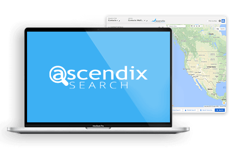 Ascendix Search app interface laptop