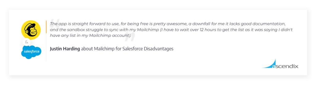 Mailchimp-for-Salesforce-App-Cons