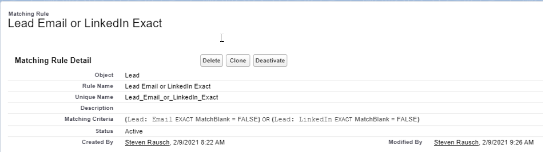 how-to-create-Lead-Email-or-LinkedIn-Exact-Matching-Rules-in-Salesforce