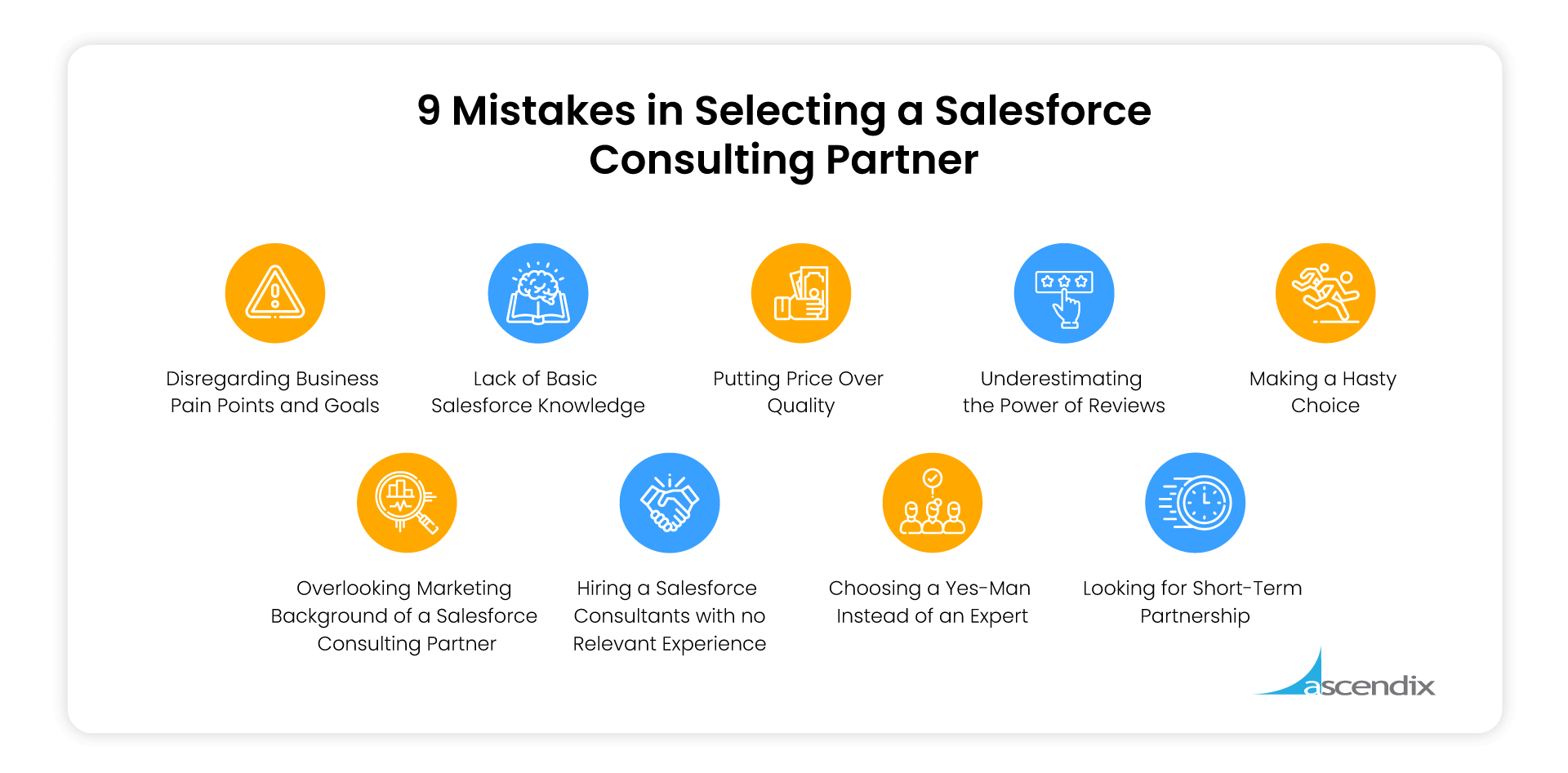 9 Mistakes in Selecting a Salesforce Consulting Partner