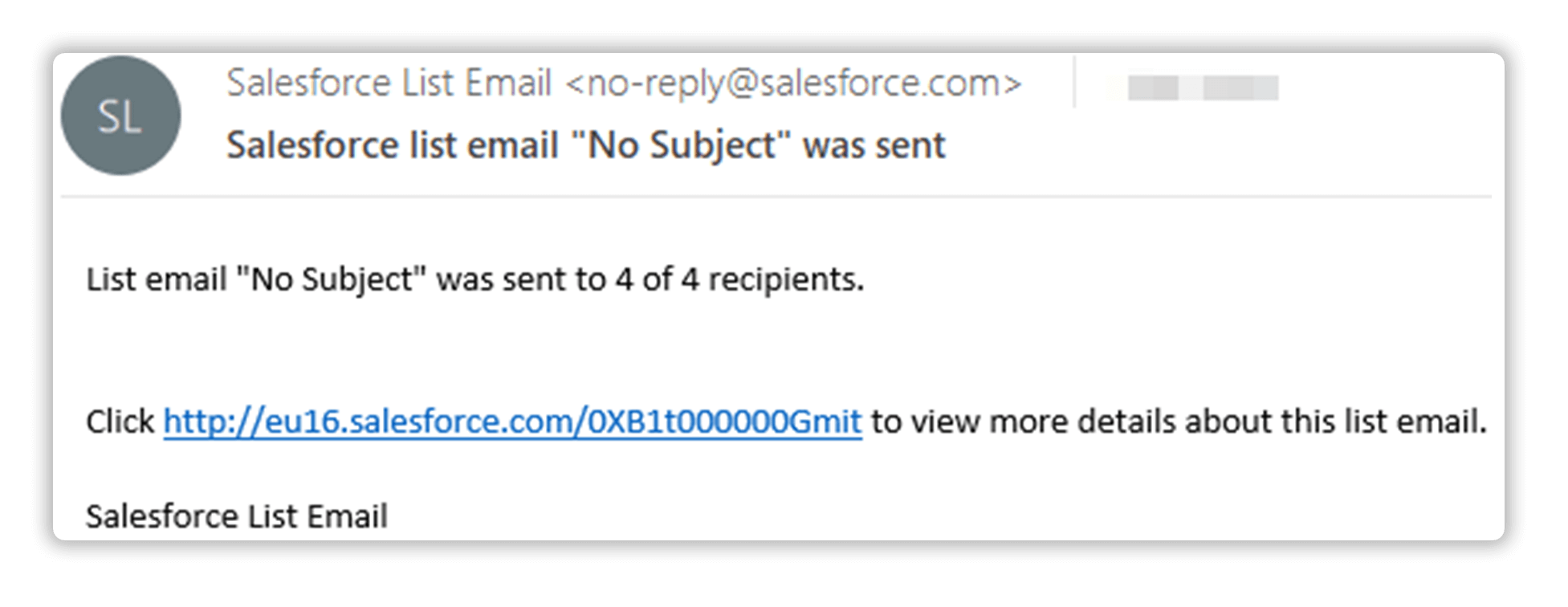 An Email Notification When Your Salesforce Email is Sent