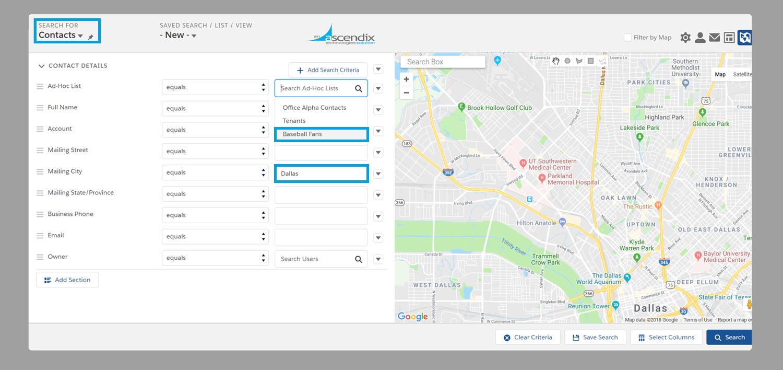 Ascendix Search: Creating a New Search