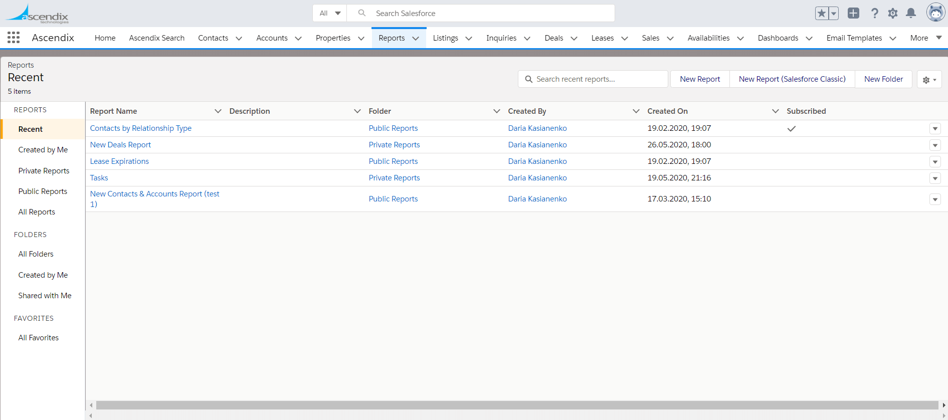 Check if the Salesforce report subscription is active