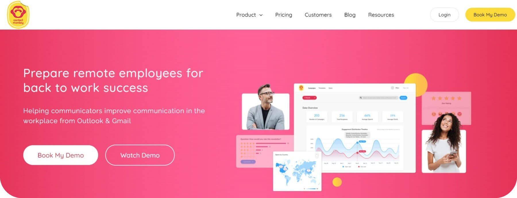 ContactMonkey Home Page