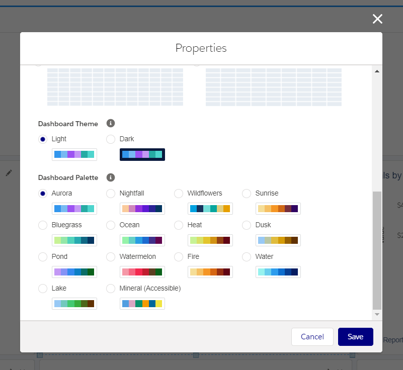 Customize colors in the Salesforce dashboard
