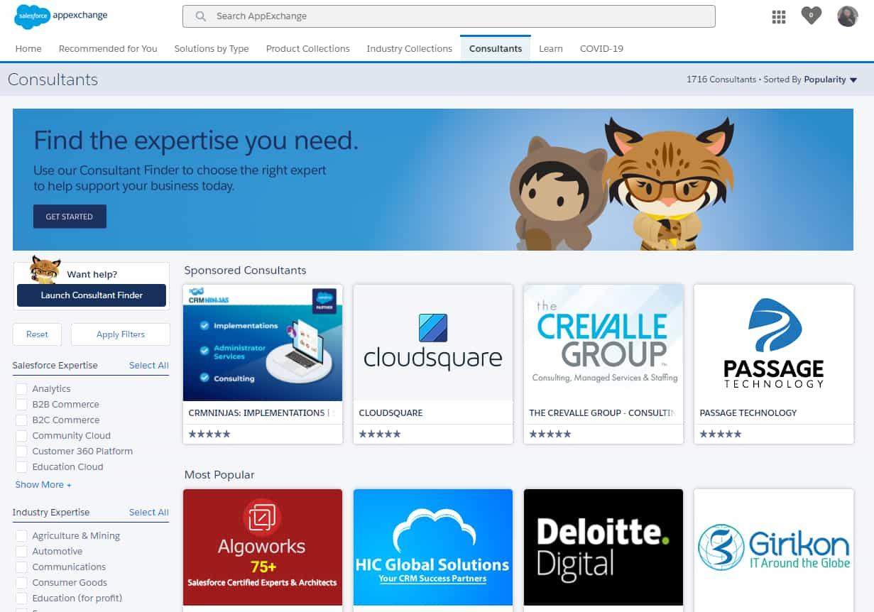 List of Salesforce Consultancies on AppExchange