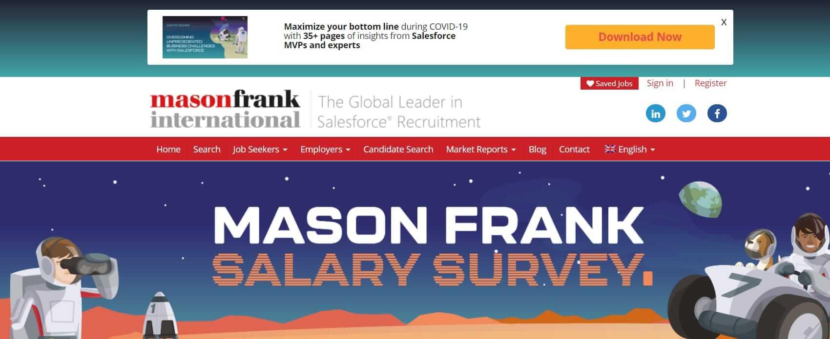 Mason Frank Salesforce recruitment website