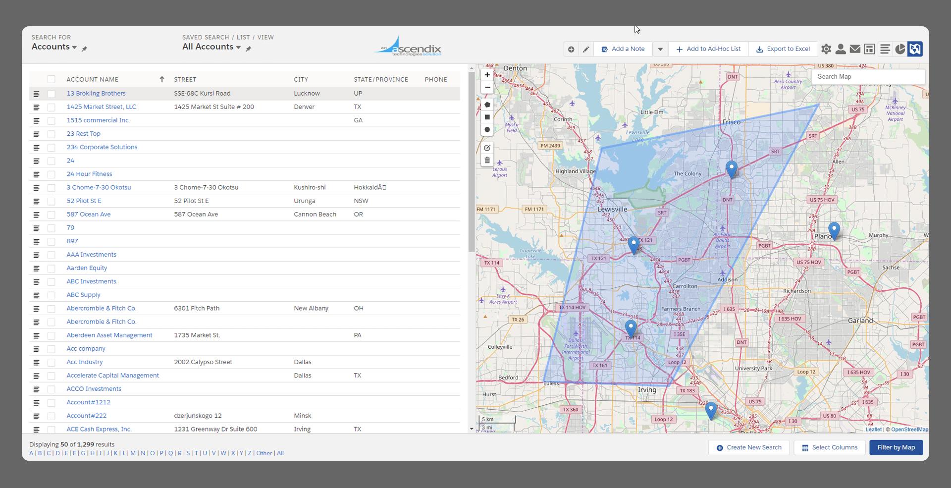 OpenStreetMaps Interface