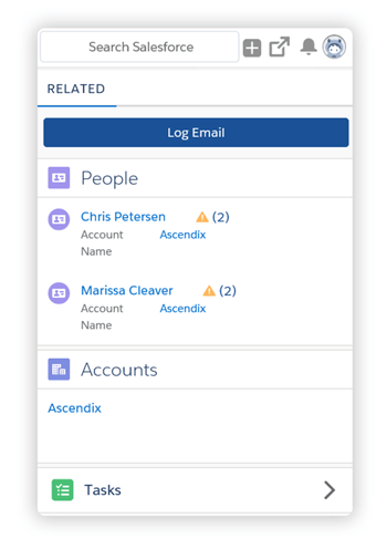 Outlook to Salesforce Lightning interface