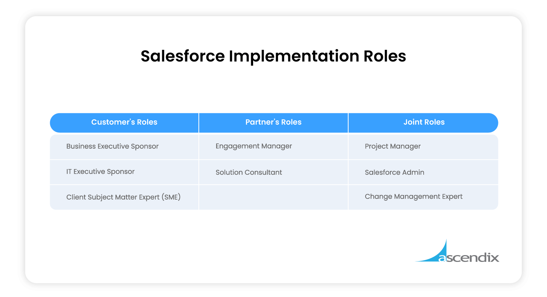 Salesforce Implementation Roles