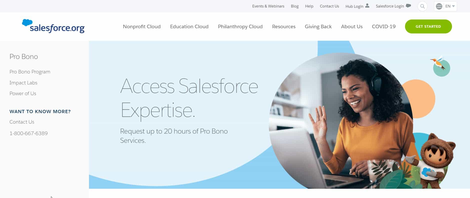 Salesforce Pro Bono Program for Nonprofit and Education Clouds
