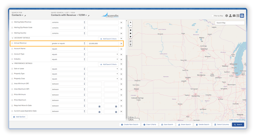 using Ascendix Search for Salesforce related lists