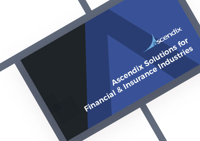 Cover Ascendix CRM Solutions for Financial Insurance Industries