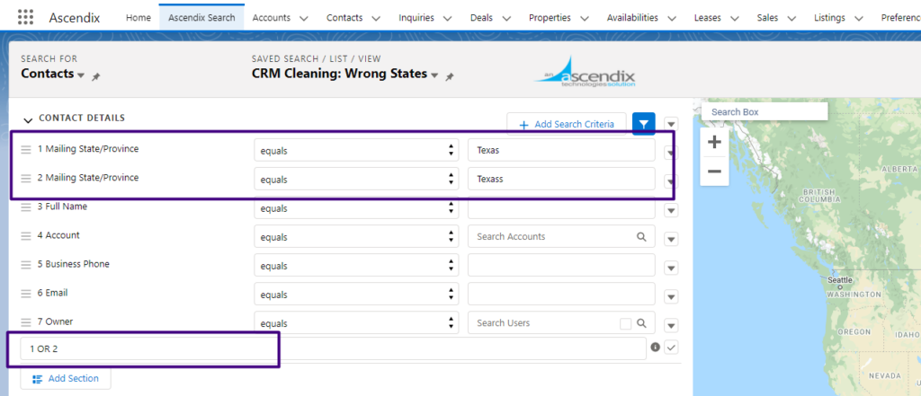 Creating a List to Check Contacts with Wrong States