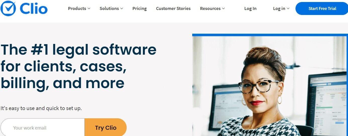 Clio a CRM for legal services Ascendix